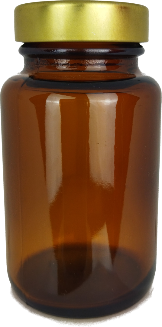 192 wide neck bottles 100ml in amber glass - wide neck glass, screw top jars